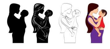 Mère et bébé Photographie stock libre de droits