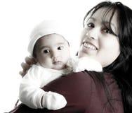 Mère et bébé Images libres de droits