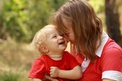 Mère et chéri Images libres de droits