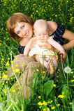 Mère et chéri Image libre de droits