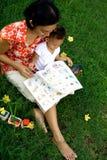 Mère et chéri en instruisant la session Photo stock