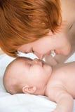 Mère et chéri heureuses de beauté Images libres de droits