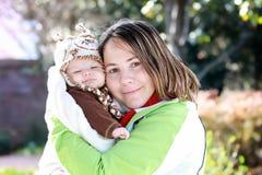 Mère et chéri nouveau-née photo libre de droits