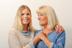 Mère et descendant aînés Photographie stock