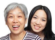 Mère et descendant de sourire Image libre de droits