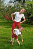 Mère et descendant - formation photo stock
