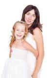 Mère et descendant heureux Photo libre de droits