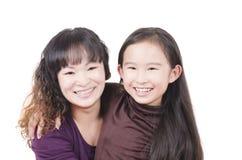Mère et descendant heureux Photographie stock
