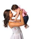Mère et descendant hispaniques Images stock