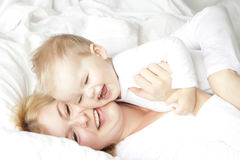 Mère et enfant Photographie stock