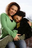Mère et enfant Photo stock