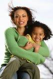 Mère et enfant Photos stock