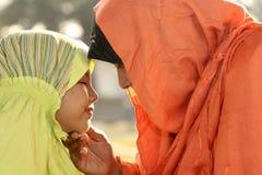 Mère et enfant de l'Islam Photos libres de droits