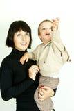 Mère et enfant heureux Photos libres de droits