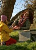 Mère et enfant ivres Photo libre de droits