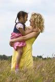 Mère et enfant normaux Image stock