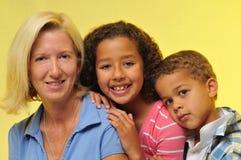 Mère et enfants Images libres de droits