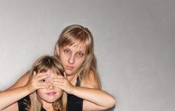 Mère et fille Photos stock