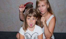 Mère et fille Photographie stock