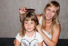 Mère et fille Photographie stock libre de droits