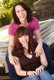 Mère et fille adolescente Images stock
