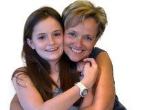 Mère et fille adolescente mignonne photos libres de droits