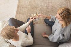 Mère et fille adultes heureuses ensemble à la maison Photo libre de droits