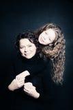Mère et fille Amour parental Photo stock