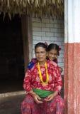 Mère et fille de Nepali Photographie stock
