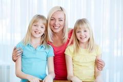 Mère et filles Photographie stock