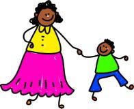 Mère et fils illustration stock