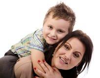 Mère et fils Image libre de droits