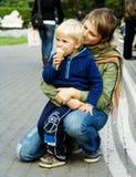 Mère et fils Images stock