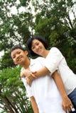 Mère et fils heureux Image libre de droits