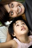 Mère et fils heureux Images stock