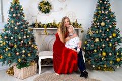 Mère et garçon Photo stock