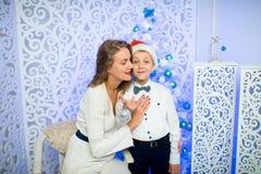 Mère et garçon Images stock