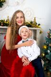 Mère et garçon Photographie stock