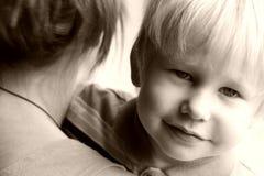 Mère et l'enfant Images stock