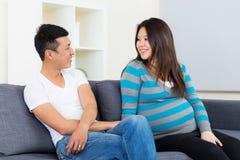Mère et père enceintes photos stock