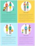 Mère et père Set Vector Illustration de famille illustration stock
