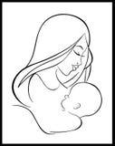 Mère et protection de l'enfance Photo stock