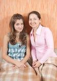 Mère et son descendant de l'adolescence Photos libres de droits