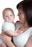 Mère et son petit fils Images libres de droits
