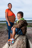 Mère, fils et le à venir Photo libre de droits