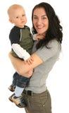 Mère heureuse avec le petit fils Photos libres de droits