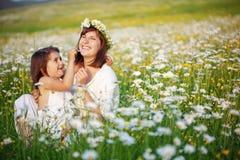 Mère heureuse avec son enfant Photo stock