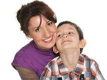 Mère heureuse avec son fils Photo stock
