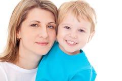 Mère heureuse et son fils Images libres de droits