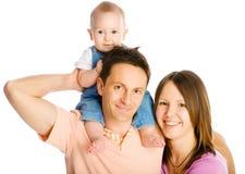 Mère, père et fils heureux photo libre de droits